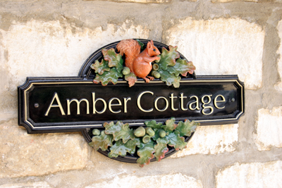 Amber Cottage Sign